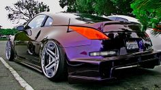 Hellaflush Twin Turbo Two tone iridescent color changing paint. (I wonder … – En Güncel Araba Resimleri Nissan Silvia, Honda S2000, Honda Civic, Nissan Z Series, Nissan 350z Convertible, Iridescent Color, Truck Rims, Slammed Cars, Stance Nation