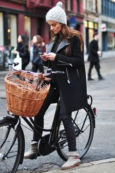 I want to live in New York with a bike that has a basket and just ride it everywhere.