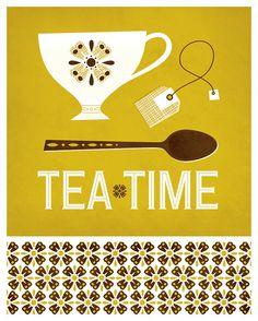 Tea Time Illustration Clairice Gifford on Behance Tea Illustration, Café Chocolate, Tea Quotes, Tea And Books, Cuppa Tea, Fun Cup, Tea Art, My Cup Of Tea, Food Illustrations