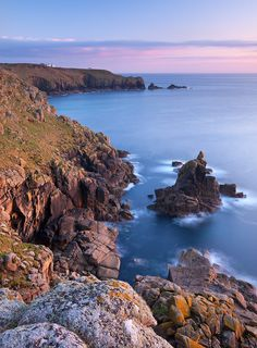 size: Photographic Print: Looking Towards Land's End from the Cliffs Above Sennen, Cornwall, England. Spring by Adam Burton : Artists Devon And Cornwall, Cornwall England, Yorkshire England, London England, North Cornwall, Oxford England, Yorkshire Dales, North Wales, England Ireland