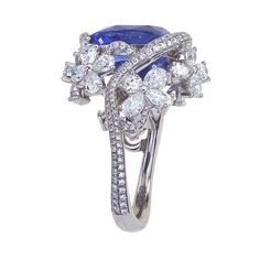 Mark Patterson Sapphire and Diamond Ring