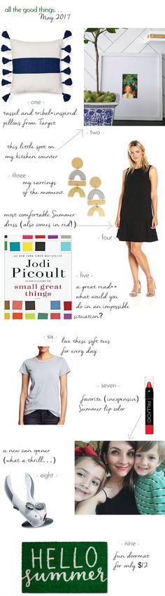 all, good, things, spring, can opener, door mat, lip color, tshirt,  gray, black, dress, earrings, book