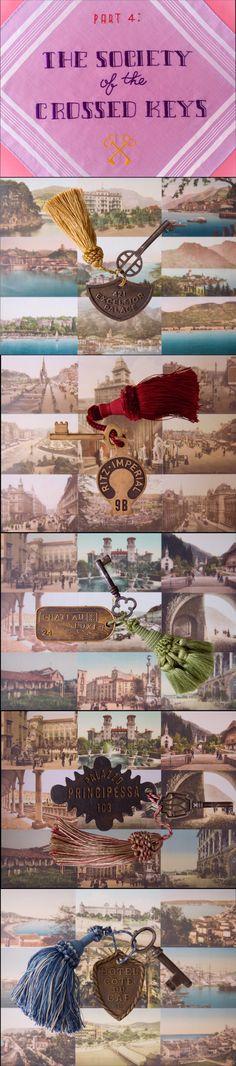 Die Filmstills der Society of the Crossed Keys aus dem Grand Budapest Hotel - Grap . Grand Budapest Hotel, Budapest Travel, Movie Theater, I Movie, Lobby Boy, Thriller, Science Fiction, Wes Anderson Movies, Grande Hotel