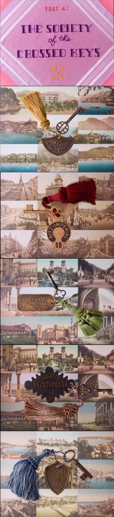 The Society of the Crossed Keys film stills from The Grand Budapest Hotel - Graphic Design for film by Annie Atkins. http://annieatkins.com/