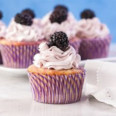Blackberry-lemon cupcakes