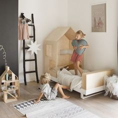 the perfect bedroom scene  adorable house bed Frame from @kutikai