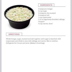 Chick-fil-A Cole Slaw - Are you a fan of Chick-fil-a cole slaw? In December 2015 the Atlanta GA based company announced they would be removing it from their menu and released the recipe to the public on their website. Cole Slaw, Side Dish Recipes, Side Dishes, Cabbage Recipes, Restaurant Recipes, Plant Based Diet, Soup And Salad, Food Processor Recipes, Food To Make