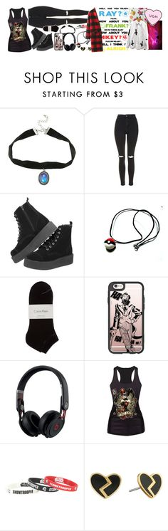 """""""WHEN I'M GONE - EMINEM  / 5.20.16"""" by hesitantalienfashion ❤ liked on Polyvore featuring Topshop, T.U.K., Calvin Klein, Casetify, Beats by Dr. Dre, Loungefly and Marc by Marc Jacobs"""