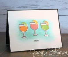 #TGIFC65 Mixed Drinks stamp set from Stampin' Up! Card created by Jeanna Bohanon