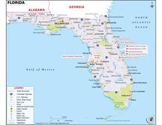 State Map Of Florida.A Large Detailed Map Of Florida State For The Classroom Florida