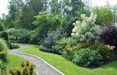 Eco Garden, Garden Edging, Garden Borders, Small Space Gardening, Small Garden Design, Evergreen Garden, Sloped Garden, Backyard Landscaping, Beautiful Gardens