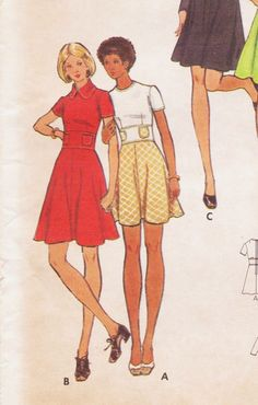 Vintage 1970s Butterick Sewing Pattern 6999 Mini or Maxi Dress or Jumper with Waist Detail Size 12 Bust 34 UnCut by CloesCloset on Etsy https://www.etsy.com/listing/179054432/vintage-1970s-butterick-sewing-pattern