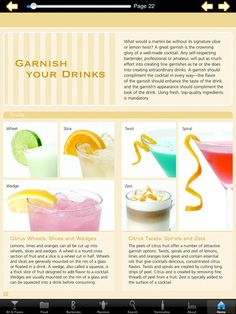 Garnish Your Drinks  Cocktail Apps