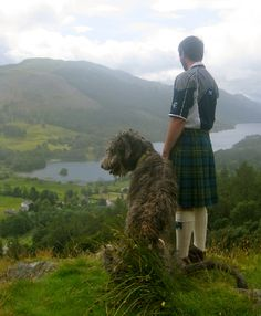 Wolfhound and kilt