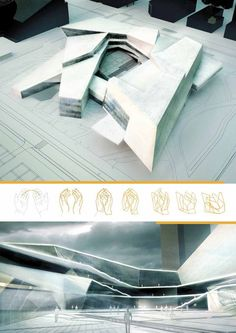 ~Matteo Cainer Architects - Museum of Contemporary Arts - Shenzhen, China~ Cultural Architecture, Architecture Design, Plans Architecture, Museum Architecture, Architecture Panel, Concept Architecture, Futuristic Architecture, Hospital Architecture, Arquitectos Zaha Hadid