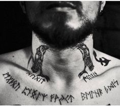 Viking Raven Tattoo - Top 500 Best Tattoo Ideas And Designs For Men and Women Viking Rune Tattoo, Norse Tattoo, Raven Tattoo, Celtic Tattoos, Viking Tattoos, Wiccan Tattoos, Inca Tattoo, Deer Tattoo, Indian Tattoos