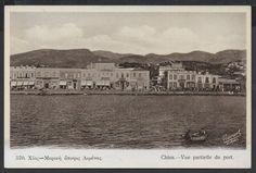 chios | vue partielle du port | χίος | μερική άποψη λιμανιού | 1935-1940 | Nicourt, Athènes | 570 | Νικόλαος Κουρτίδης