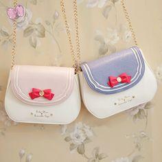 Japanese cartoon sweet moon chain bag from Fashion Kawaii [Japan & Korea] Kawaii Bags, Kawaii Clothes, Kawaii Accessories, Bag Accessories, Justice Accessories, Cute Purses, Purses And Bags, Sweet Moon, Mode Lolita