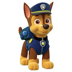 Paw Patrol - Meet the characters from the Nickelodeon hit show for preschoolers, Paw Patrol.: Chase from Paw Patrol Paw Patrol Rocky, Paw Patrol Birthday Cake, Paw Patrol Party, Birthday Cake Toppers, 3rd Birthday Parties, Boy Birthday, Birthday Ideas, Personajes Paw Patrol, Imprimibles Paw Patrol