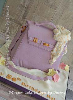 HELEN ~ HANDBAG & SCARF Designer Cakes, Unique Cakes, Novelty Cakes, Cake Designs, Diaper Bag, Bags, Handbags, Diaper Bags, Totes