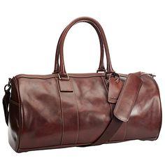 Buy John Lewis Gladstone Leather Barrel Bag, Antique Tan Online at johnlewis.com