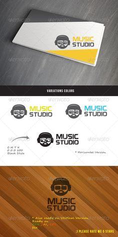 Music Studio Logo — Vector EPS #music #studio • Available here → https://graphicriver.net/item/music-studio-logo/4553182?ref=pxcr