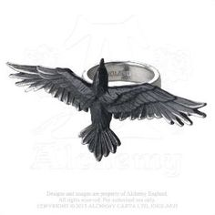 Alchemy Gothic Black Consort Ring