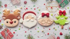 Natalia Campbell's cookies have made her one of New Zealand's most popular Tik Tok creators. Christmas Biscuits, Christmas Tree Cookies, Santa Cookies, Mini Cookies, Xmas Cookies, Christmas Treats, Christmas Baking, Rudolph Christmas, Cookie Designs