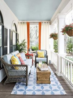 A beautifully decorated porch is a gateway to the home and a place of relaxation and comfort. That's why having porch decorations that reflect