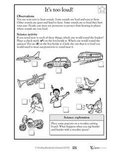 worksheets vibrations and sound first grade - Google Search