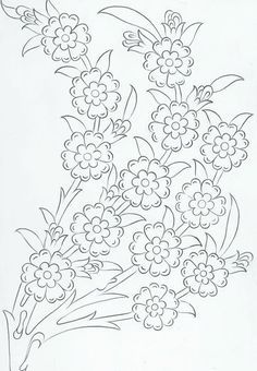 ru / Фото 21 - ergoxeiro - /kevensgal/embrodery/ BACK Silk Ribbon Embroidery, Hand Embroidery Patterns, Vintage Embroidery, Cross Stitch Embroidery, Flower Embroidery, Hand Embroidery Tutorial, Quilling Patterns, Satin Stitch, Tile Art