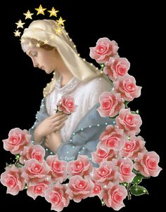 Blessed Virgin our Mother Mary Immaculate Religious Pictures, Jesus Pictures, Religious Icons, Religious Art, Blessed Mother Mary, Blessed Virgin Mary, Madonna, Jesus Christ Images, Images Of Mary