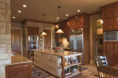 kitchen island with built-ins and tons of cabinet space