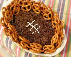 13 Football-Shaped Foods for Super Sunday: Football Peanut Butter Cookie Dough Dip