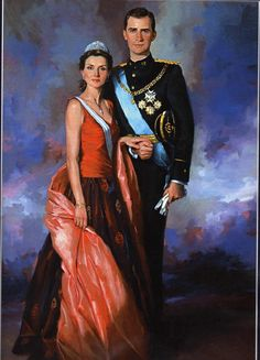 Royal Portrait - Prince Felipe and Princess Letizia of Spain