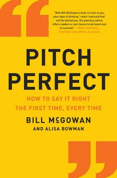"""Improve your communication skills with advice from Bill McGown's """"Pitch Perfect"""" #thecareerwoman"""