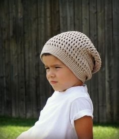 Crochet Slouchy Hat.  Easy as pie!  Had someone ask me if I could make them a hat like this & I can't wait to get it made! I have the cutest pattern that looks almost exactly like this one :)
