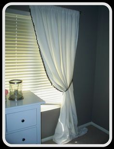 DIY curtains w/ twin sheets