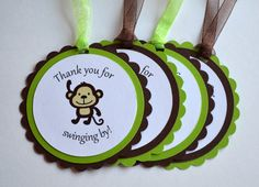 Jungle/Safari Favor Tags, Set of 12, Any Colors - Baby Shower, Birthday Party on Etsy,
