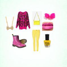 """""""Cheta print and yellow"""" by abtothey on Polyvore"""