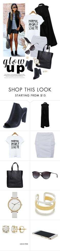 """""""GlowUp"""" by reginakos ❤ liked on Polyvore featuring Givenchy, Boohoo, Yves Saint Laurent, Ray-Ban, Skagen, Maya Magal, Auriya, mules, springfashion and casualstyle"""