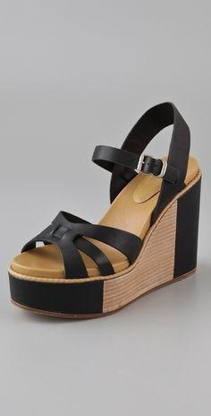 See by Chloe Wedge Platform Sandals - StyleSays
