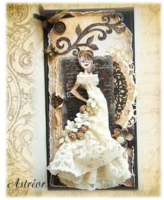 Elegance and Glamour Bride made from Prima Doll Stamp
