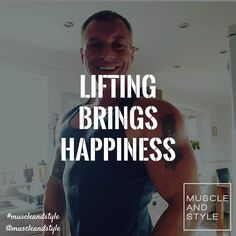 Double tap if lifting brings you happiness!!!!!  We know @davemays1 loves training and the results definitely put a big smile on his face  #muscleandstyle