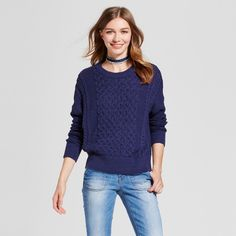 Women's Pullover Sweater - Mossimo Supply Co. Navy (Blue) S