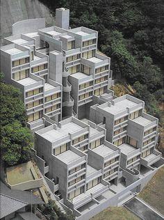 Rokko Housing I, Kobe Japan Concrete Architecture, Modern Architecture Design, Japanese Architecture, Facade Design, Sustainable Architecture, Residential Architecture, Ancient Architecture, Landscape Architecture, Tadao Ando