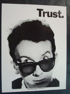 Elvis Costello, the man. I had this poster on my wall for many, many years.