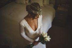 Jewelled Headpiece by Bo & Luca / Dallas & Chelsea's Springtime Splendour Wedding / View on The LANE