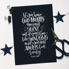 If you have good thoughts Roald Dahl black and white print Brush Lettering, Lettering Design, Lettering Ideas, Creative Lettering, Writing Quotes, Poetry Quotes, Quotes Quotes, Lettering Tutorial, Calligraphy Tutorial