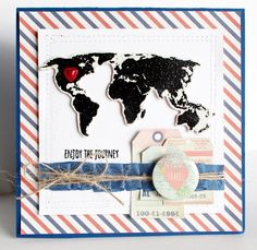 Enjoy the Journey - Scrapbook.com - Fabulous handmade Bon Voyage card.